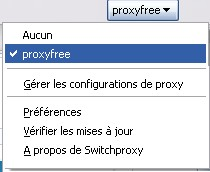 Activation de SwitchProxy Tool