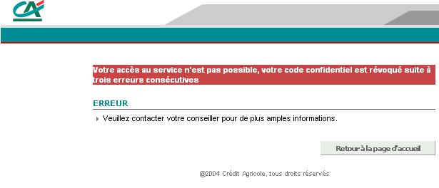 Securite A Revoir Sur Le Site Du Credit Agricole Blogmotion