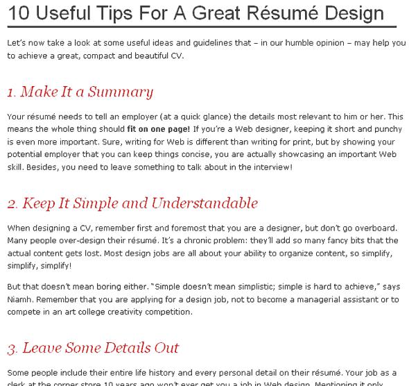 10 conseils et exemples pour rendre votre cv efficace  u2013 blogmotion