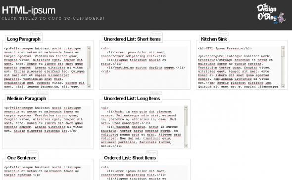 html-ipsum-exemple