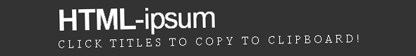 html-ipsum