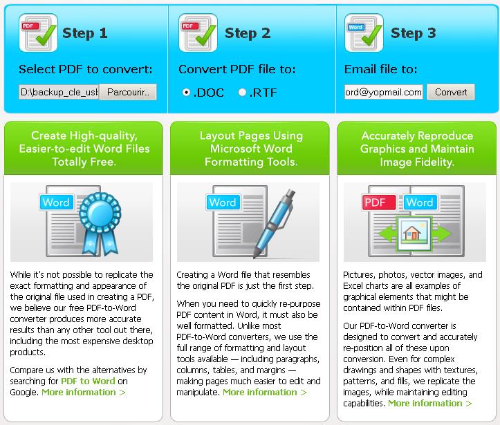 Convertir un pdf en document word - Convertir un fichier pdf en open office writer ...