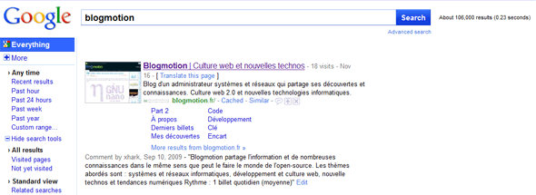 google-nouvelle-version-search