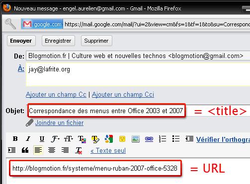 comment partager une d 233 couverte avec un bookmarlet gmail