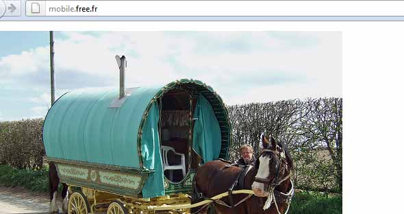 Free Mobile : monte dans ma caravane !