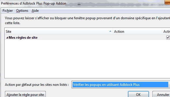 Comment bloquer toutes les pop up sous firefox for Bloquer fenetre pop up chrome