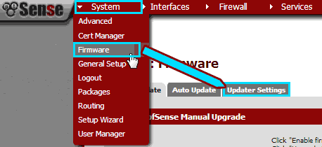 pfsense_updater_menu