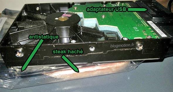 Sauver un disque dur avec un steak hach - Reparer table de partition disque dur ...
