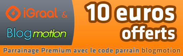 10 euros offerts chez iGraal