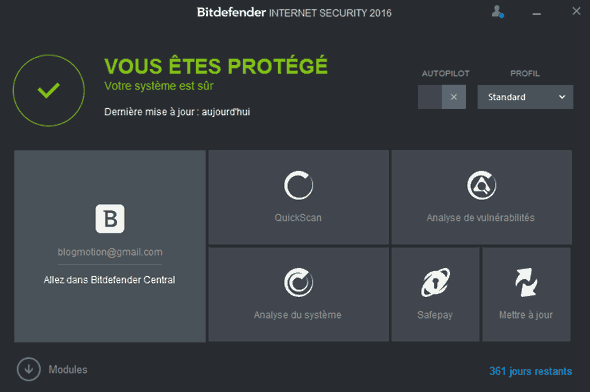 [test] J'ai testé Bitdefender Internet Security 2016