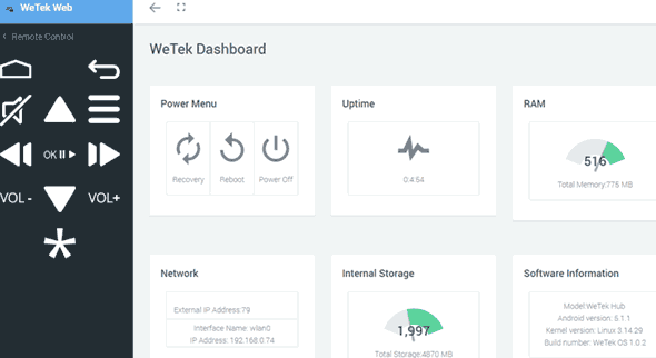 wetek-web-interface